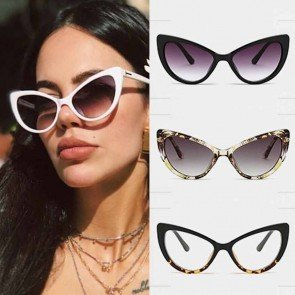 Ladies Cat's Eye Sunglasses Retro High Pointed Eyewear