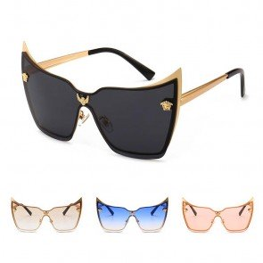 Cat Eye Sunglasses Shades Vogue Female Metal Frame