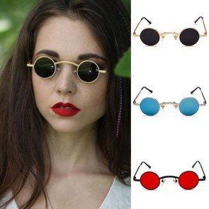 Small flat lens vintage retro hippie round shades