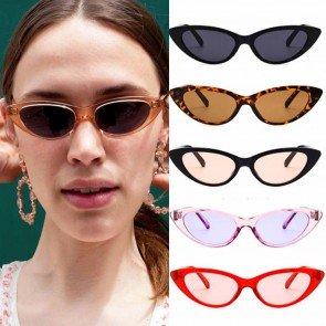 Horn rimmed Thick Plastic Cat Eye Sunglasses for Girls
