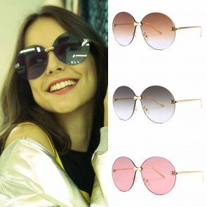 Candy colored see-through gradient oversize shades