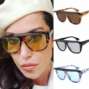 Flat top aviator sunglasses w/ cute bongrace & rivets