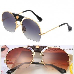 Dome shaped oversize sunglasses on-trend gradient lens
