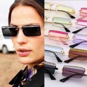 Dazzling superb charming tiny punk two tone sunglasses