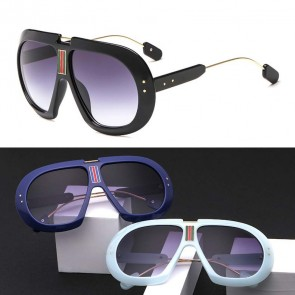 Aviator sunglasses oversize frame colored gradient tint