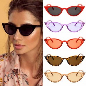 Cat eyes shades high pointed frame tiny sunglasses