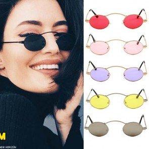 Minimal Steampunk Flat Lens Round Mini Sunglasses