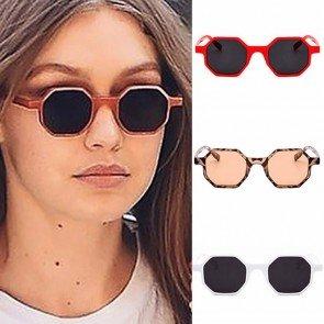 Ladies cute octagon shades small sunglasses