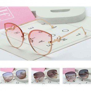 Cute Flat Lens Modern Cat Eye Women's Sunglasses