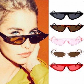 Flat Top High Pointed Rim Stylish Cat's Eye Sunglasses