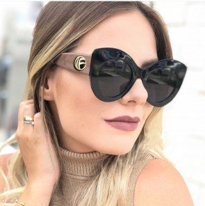 Modern Cat Eye Sunglasses Multicolored Acetate Frame