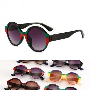 Modern Oversized Shades Multi-color Round Sunglasses