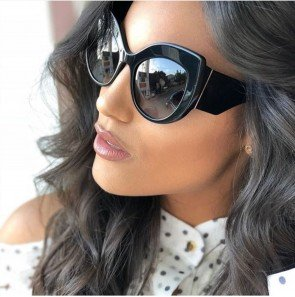 Vintage inspired oversize big lens cat eyed sunglasses