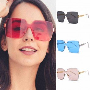 Cool one piece shield lens oversize squared sunglasses