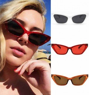 Small size tiny shades curved legs cat eye sunglasses