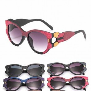 High pointed large frame cat eyes multicolor sunglasses