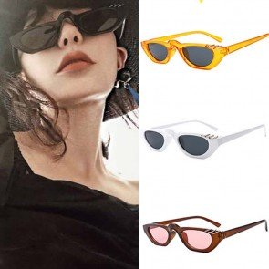 Sunglasses Small Cat Eye Shades with Cute Rings on Top