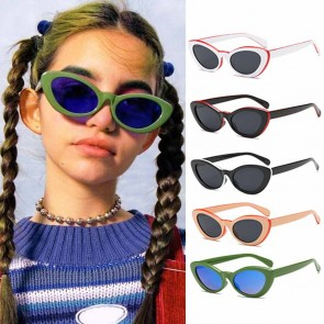Two Tone Fruit Color Cute Frame Cat Eye Sunglasses