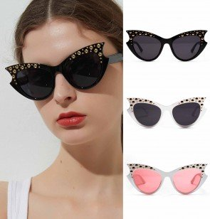 Retro mod super trendy women fashion cat eye sunglasses
