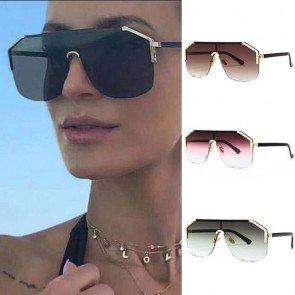 Aviator sunglasses oversize frame colored gradient tint