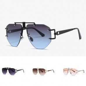 Classic Aviator Style Sunglasses Metal Frame Colored Lens