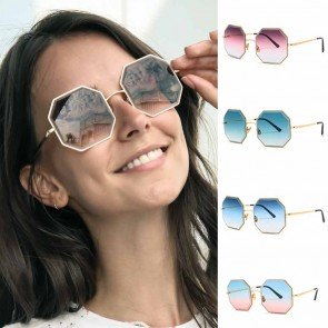Candy colored flat lens sunglasses octagonal shades