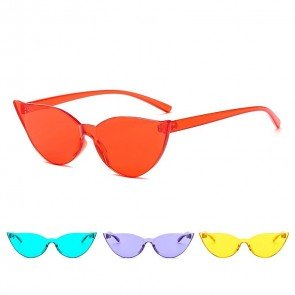 Cute modern cat-eye rim sunglasses candy color tint