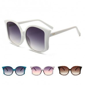 Fashion gradient tint oversized butterfly sunglasses