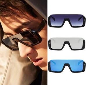 Fashion aviators flat top half frame shield sunglasses