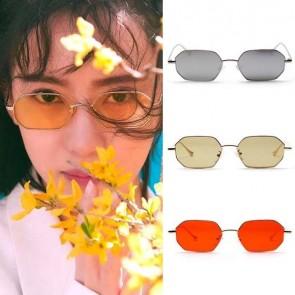 Street Fashion Candy Color Metal Heptagon Sunglasses