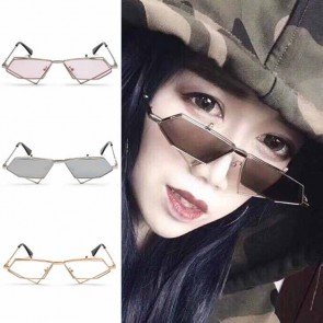 Quadrilateral Vintage Steampunk Sunglasses Flip Up Lens