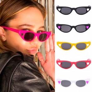Lovely hearts cat-eye sunglasses retro feel tailored look