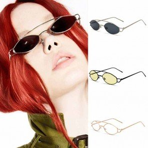 Retro circle lens metal frame steam punk sunglasses