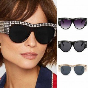 Womens rhinestones sunglasses bling oversized shades