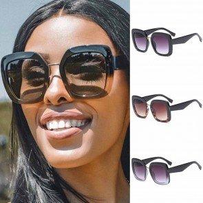 Fashion Women Eyewear Square Frame Oversized Sunglasses