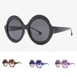 Vintage oversized round circle lens fashion shades