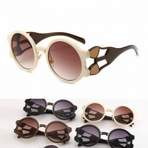 Gradient Tinted Multicolor Oversized Round Sunglasses