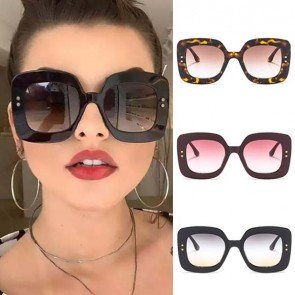 Oversized Square Frame Flat Top Large Sunglasses