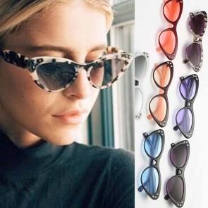 Crystal cat eye sunglasses rhinestone frame shades