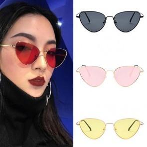 Girls fashion hot tip pointed vintage cat eye sunnies