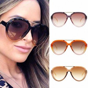 Multicolor Aviator Sunglasses Acetate Frame Zigzag Legs