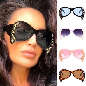 Chic Oval Curve Shades Butterfly Sunglasses for Girls