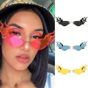 Costume Partner Rimless Lens Girls Hot Fire Sunglasses