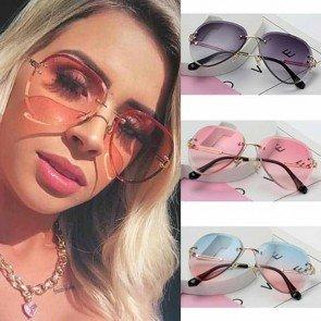 Luxury aviation fashion frameless sunglasses