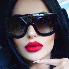 Oversized Cyber Shield Wrap Around Goggles Sunglasses