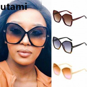 Sexy Butterfly Shades Chic Curved Oversized Sunglasses
