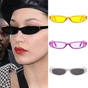Rectangle Pointed Tip Cat Eye Silhouette Sunglasses