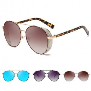 Bright modern side cap aviators warm weather escapes