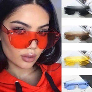Modern Cat Eye Sunglasses One Piece Fresh Color Lens