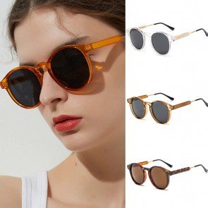 Cute key hole bridge vintage round sunglasses